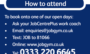 Jobseekers can now book onto Open day via text